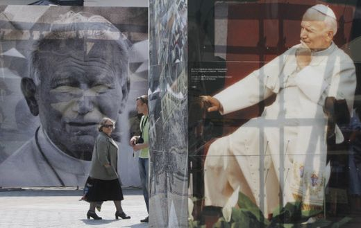 Bilder von Papst Johannes Paul II. in Krakau
