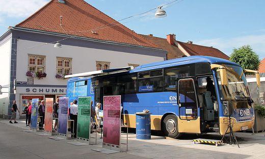 Der Euro-Bus in Kapfenberg: 530.000 Schilling wurden in dort getauscht.