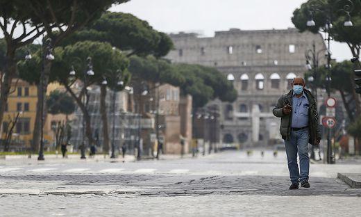 Rund um das Kolosseum in Rom ist es derzeit ruhiger