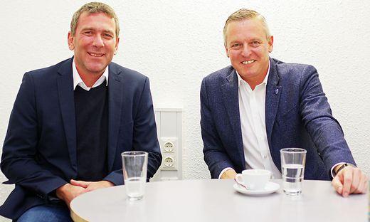 Arnd Meißl (links) und Mario Kunasek bei ihrem Redaktionsbesuch in Bruck