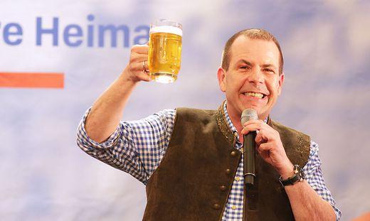 EU-Spitzenkandidat Harald Vilimsky während der 1. Mai Kundgebung der FPÖ