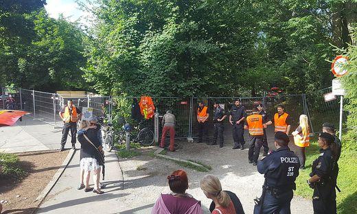 Polizei räumte das Camp der Murkaftwerksgegner im Sommer 2017
