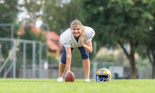 Katharina Brandtner (24) spielt seit sechs Jahren Football für die Grazer Lady-Giants