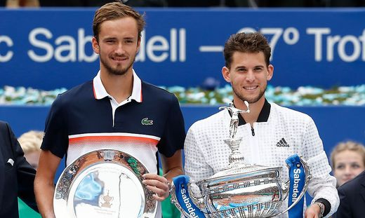 In Barcelona setzte sich Dominic Thiem gegen Daniil Medwedew im Finale durch