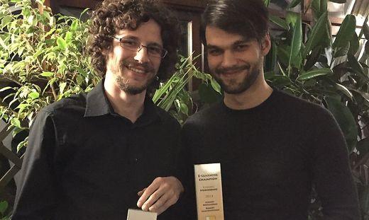 Uni-Preis-Gewinner: Robert Lichtensteiner und Gernot Höflechner