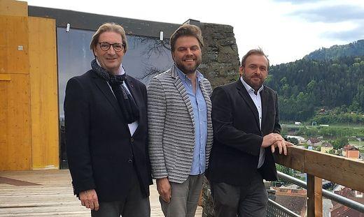Heinz Liebmann, Mike Johann und Harald Trummer (v. l.)