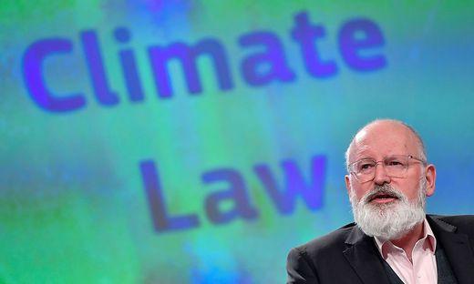 Vizekommissionspräsident Timmermans stellt Nachhaltigkeits-Strategie vor
