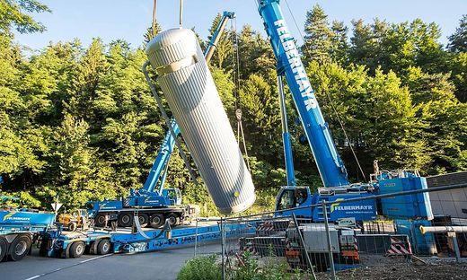 37 Tonnen schwer sind die Speicher