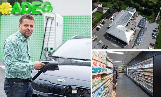 Gernot Piber hat den Adeg-Markt in Möderbrugg zur Stromquelle gemacht: Genutzt wird die über Fotovoltaikanlagen gewonnene Energie für Ladestationen und den Supermarktbetrieb, wo vor allem die Kühlvitrinen echte Stromfresser sind