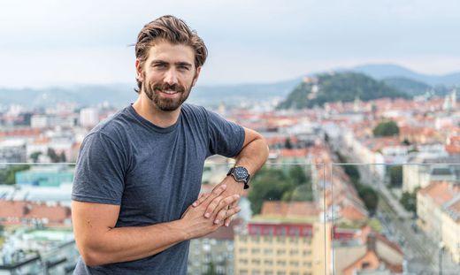 Swen Temmel bei einem Besuch in Graz