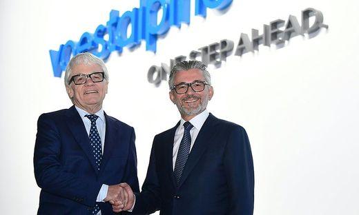 Wolfgang Eder und der neue voestalpine-Konzernchef Herbert Eibensteiner