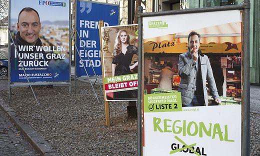 Die Neos fordern eine Obergrenze für Wahlkampfausgaben der Grazer Parteien.