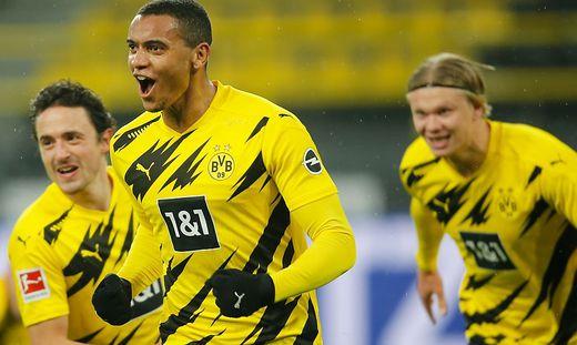 Manuel Akanji (Mitte) hat den Dortmund-Sieg eingeleitet