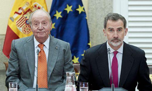 Die Beziehung von Juan Carlos und seinem Sohn und Nachfolger Felipe ist wegen der Eskapaden des Vaters zerrüttet