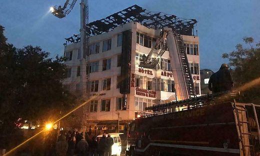 Das betroffene Hotel im zentralen Stadtteil Karol Bagh