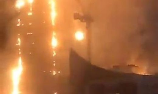 Der Abbco Tower brannte lichterloh