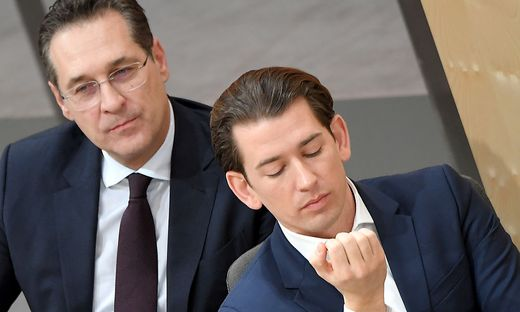 NATIONALRAT: STRACHE / KURZ