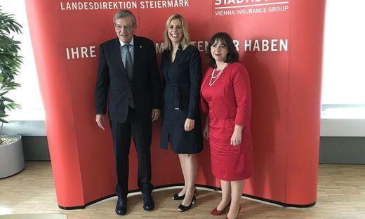Generaldirektor Robert Lasshofer, Landesdirektorin Sonja Steßl, Vorstandsdirektorin Doris Wendler