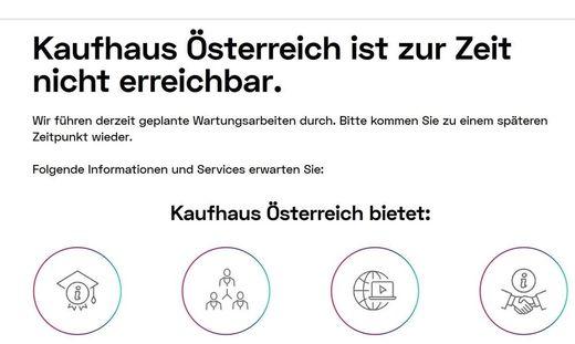 Das Kaufhaus Österreich startete mit technischen Problemen