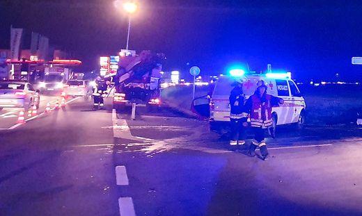 Die Feuerwehr Deutschlandsberg, Polizei, das Rote Kreuz und der Notarzt waren im Einsatz