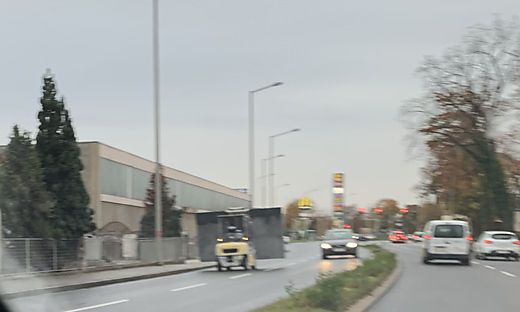 Gabelstapler kam Autofahrern entgegen