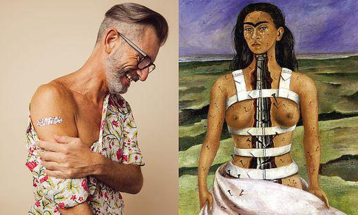Impfselfie und Frida Kahlo