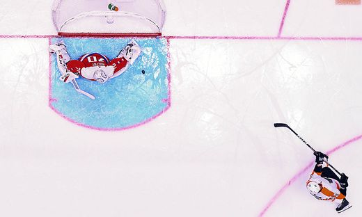 WASHINGTON, DC - FEBRUARY 08: Washington Capitals goaltender Braden Holtby (70) gives up a second period goal to Philad