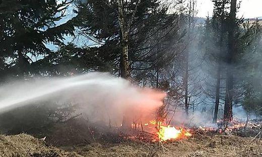 Die Feuerwehren hatten den Brand rasch unter Kontrolle