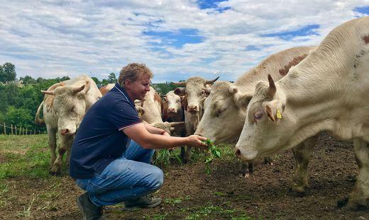 Biobauer Norbert Hackl verkauft seine Bio-Freilandprodukte derzeit vor allem online