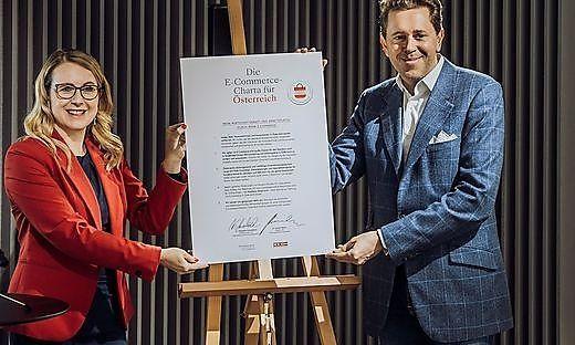 Wirtschaftsministerin Margarete Schramböck, Wirtschaftskammerpräsident Harald Mahrer