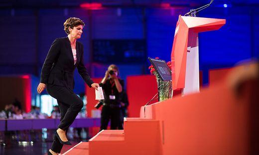 Rendi-Wagner bei der Rede am SPÖ-Parteitag