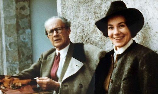 Aus dem Familienalbum: Hella von Bayern mit Vater Franz-Eduard Khevenhüller