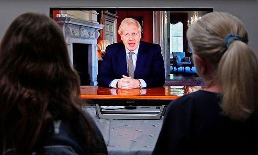 Premierminister Boris Johnson sprach in einer TV-Rede zu den Briten