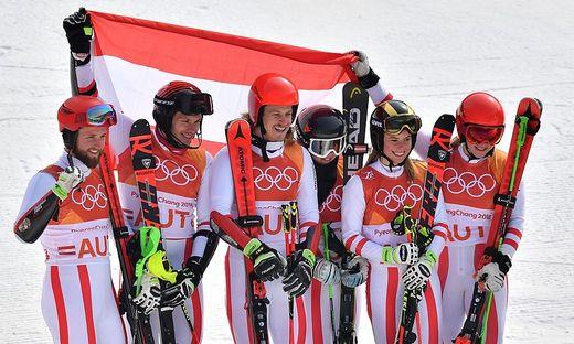 Katharina Liensberger holt Silber mit dem ÖSV-Team