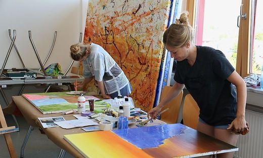 Das bildnerische und künstlerische Gestalten war nur ein Angebot in der ersten Woche der Sommerhochschule