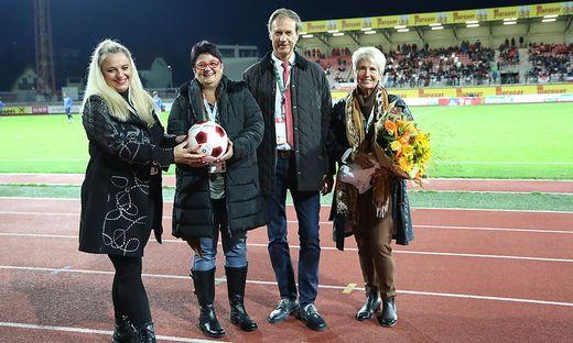 Bürgermeister Fritz Kratzer konnte die Familie Franz Feketes empfangen