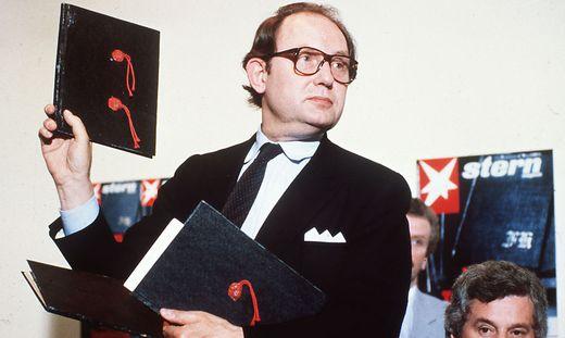 Journalist Gerd Heidemann präsentierte im April 1983 die Hitlertagebücher - zehn Tage später war klar, dass sie eine Fälschung sind