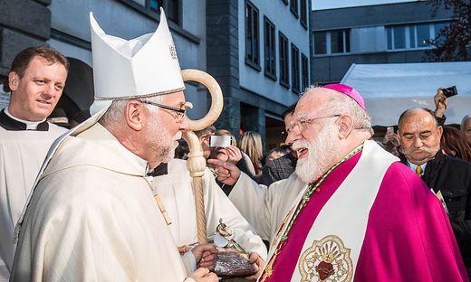 Bischof Marketz mit Nuntius Pedro Lopez Quintana