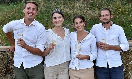Patrick Pranger, Luise Höggerl, Anna Majcan und Bernhard Fischer (v.l.n.r.) veranstalten die Eat the Farm Workshops