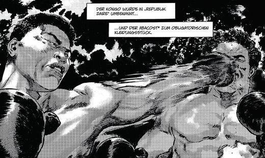 Ali gegen Foreman: Comic und Fotoreport