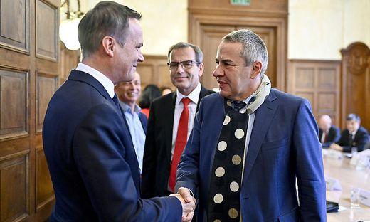 Minister Müller (links) mit GÖD-Chef Schnedl
