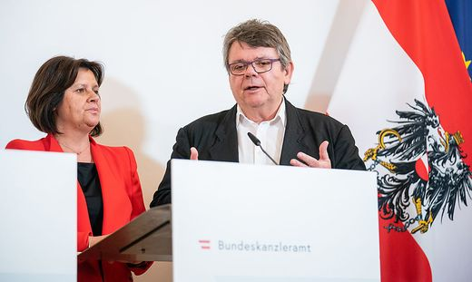 AK-Präsidentin Renate Anderl und ÖGB-Präsident Wolfgang Katzian