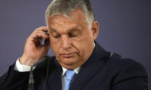 Unter Druck: Ungarns Premier Orban