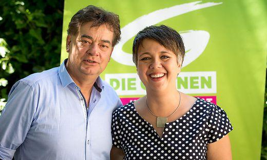 Kärntens Landessprecherin Olga Voglauer stärkt Vizekanzler Werner Kogler den Rücken