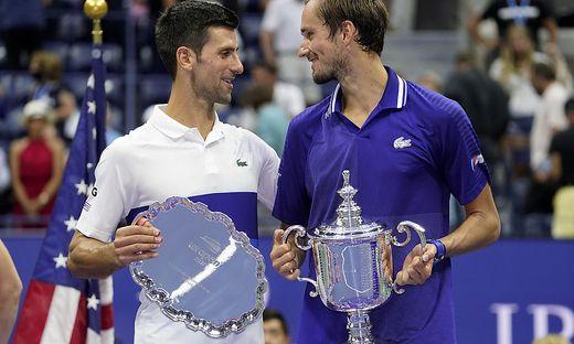 Novak Djokovic (links) verlor das US-Open-Finale gegen Daniil Medwedew