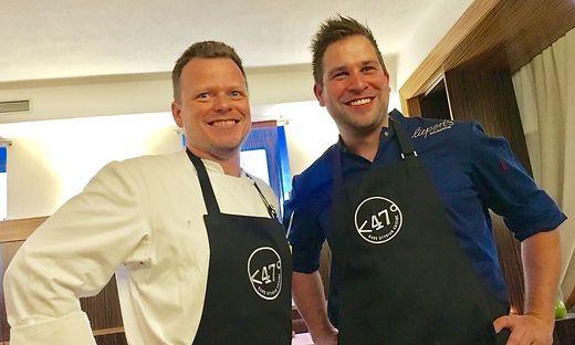 Gourmet-Gipfeltreffen von Gerhard Fuchs (l.) und Manuel Liepert