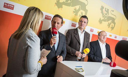 Die Spitzenkandidaten zu Gast im Wahlstudio der Kleinen Zeitung