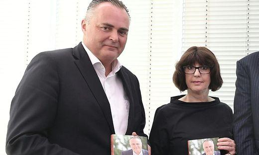 Doskozil und Kopeinig bei der Buchpräsentation der Doskozil-Biografie