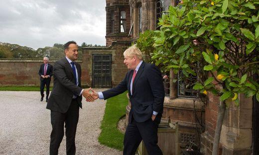 Der irische Premier Leo Varadkar und sein britischer Kollege Boris Johnson dieser Tage in England