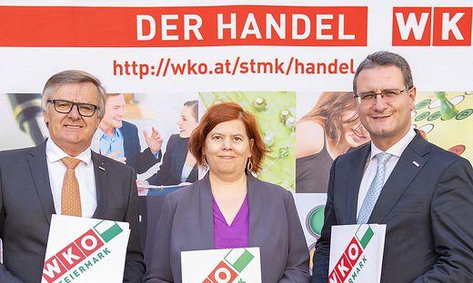 Gerhard Wohlmuth, Karin Gavac,  Helmut Zaponig
